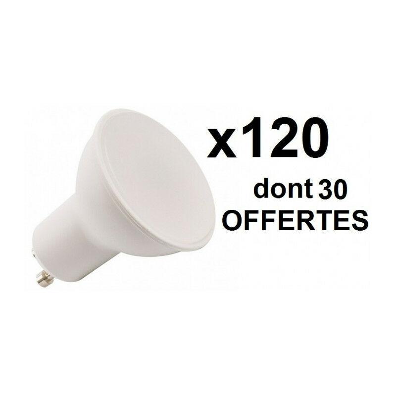 A 120 ampoules LED GU10 6W=50W 100D: 90 + 30 OFFERTES (2 700 k blanc chaud)
