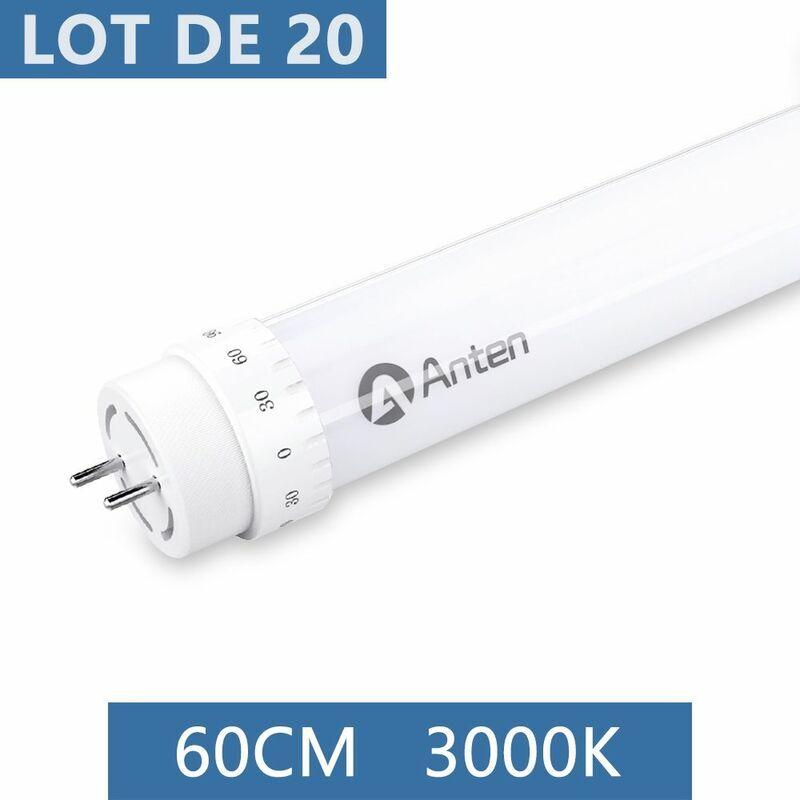 ANTEN 20×Anten 60CM T8 Tube LED 10W G13 Néon LED Tube Fluorescent 1000 Lumen