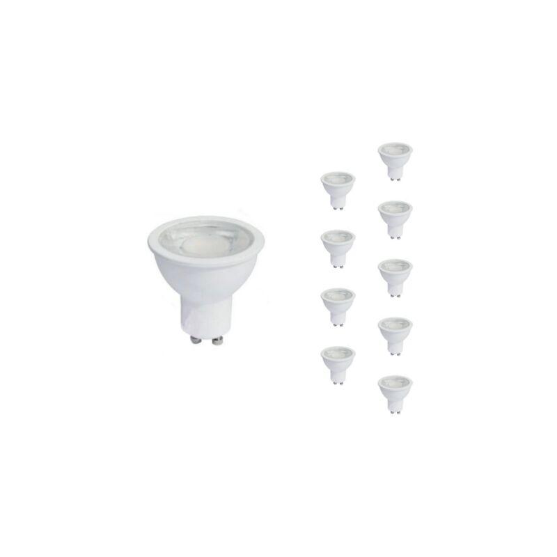 SILAMP Ampoule LED GU10 8W 220V PAR16 COB (Pack de 10) - Blanc Chaud 2300K - 3500K