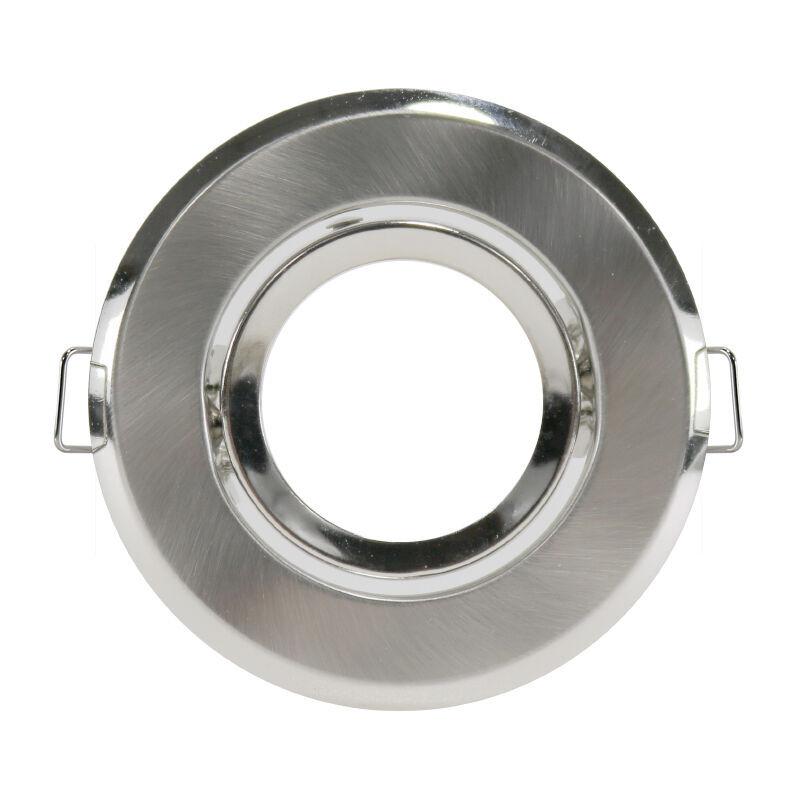 ILUMINASHOP Anneau Inclinable Circulaire Nickel pour GU10/MR16 (Pack de 2 Unités)