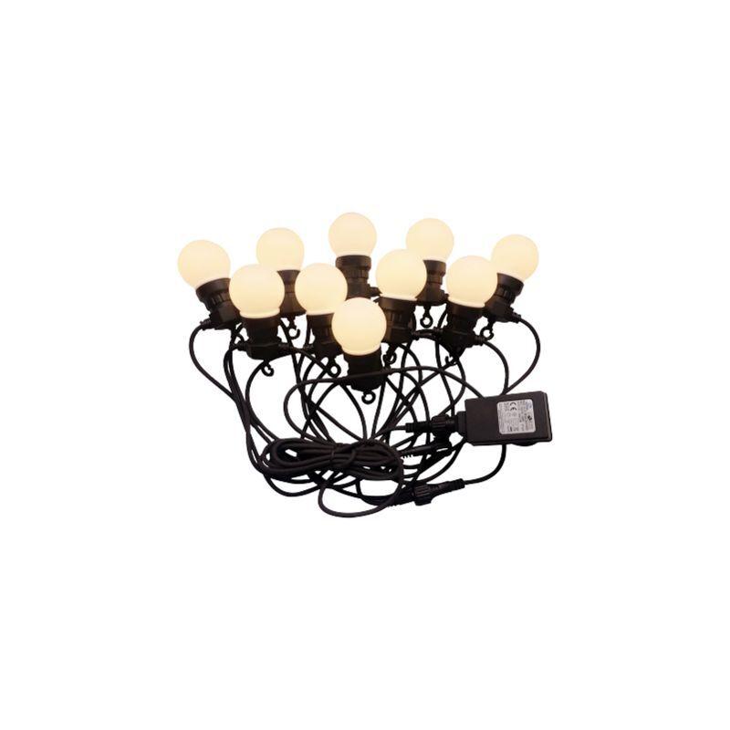 V-TAC Câble à perforation LED VT-71020 10 mètres avec fiche, avec 20x 0,5w ampoules