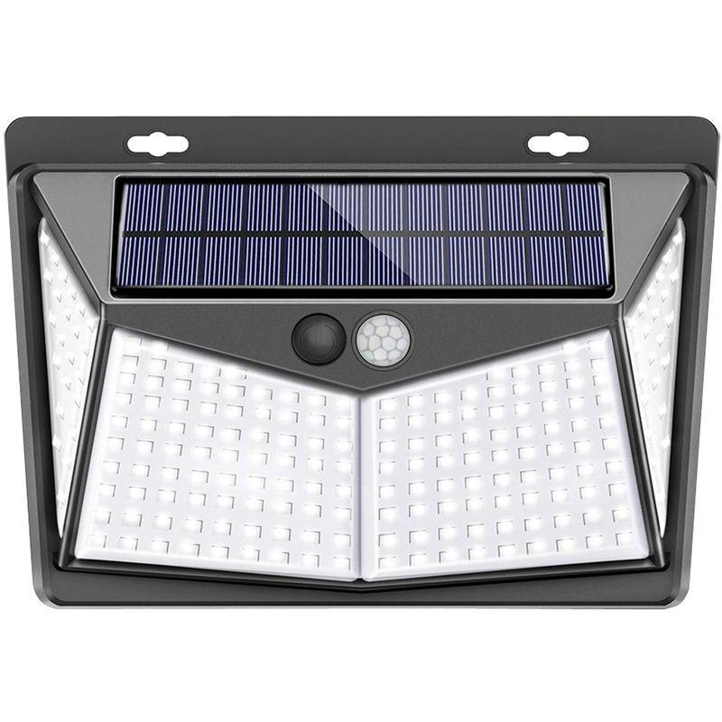 AUGIENB 208LED Lampe Solaire Applique Jardin Exterieur Etanche Détecteur de Mouvement