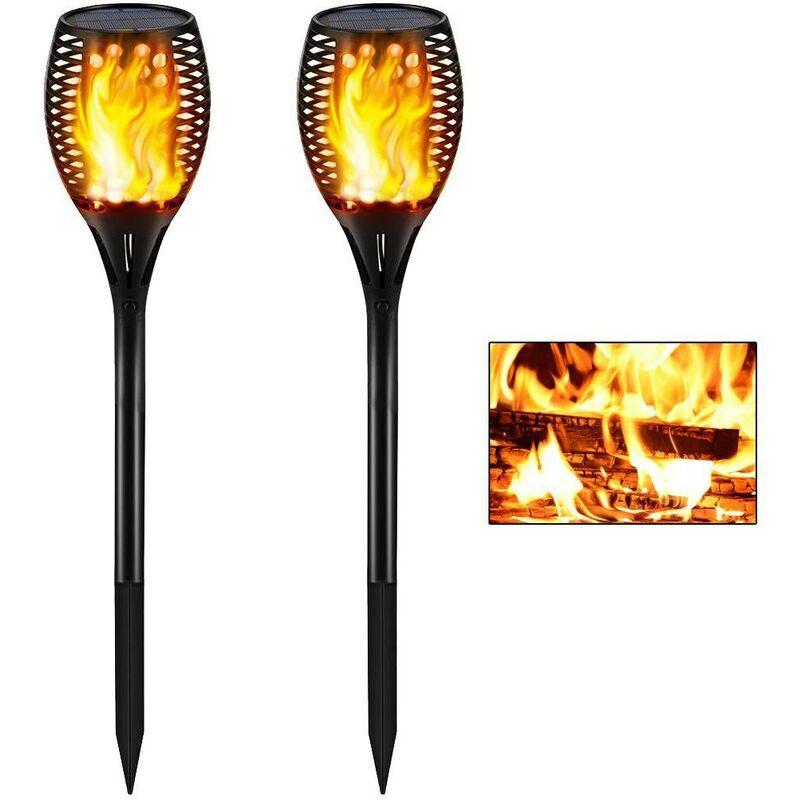 THSINDE 51LED Lumière Solaire Extérieure, Jardin Flamboyant Flamme Lampe Torche IP55