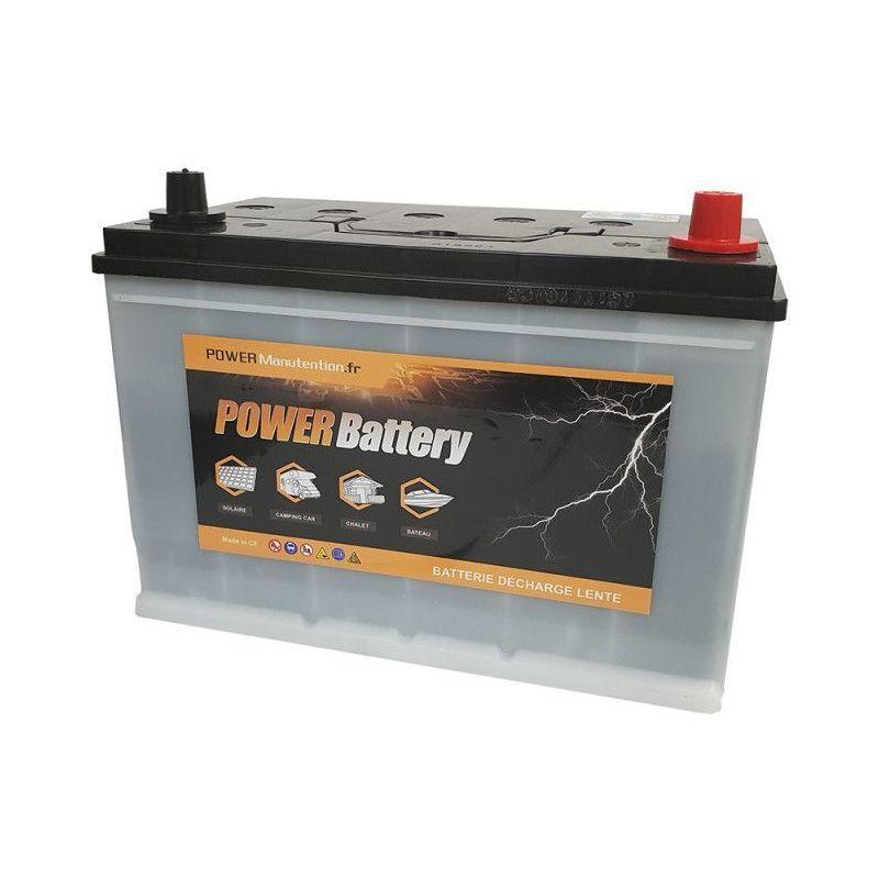 POWER BATTERY Batterie camping car décharge lente 12v 110ah