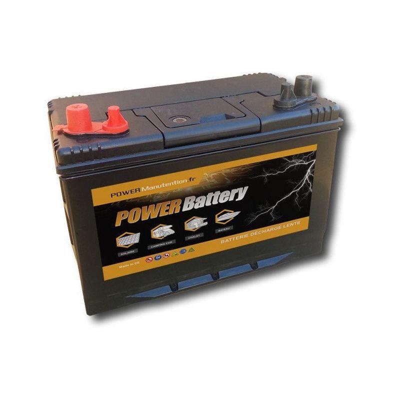 POWER BATTERY Batterie décharge lente Power Battery 12v 110ah double borne