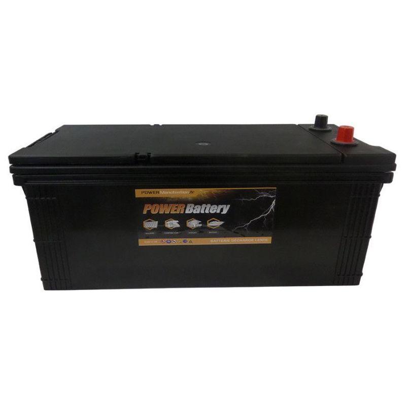 POWER BATTERY Batterie décharge lente Power Battery 12v 225ah sans entretien.