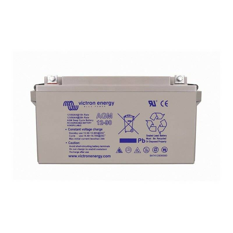VICTRON Batterie décharge lente Victron BAT412800084 AGM 12v 90ah