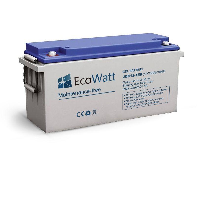 ECOWATT Batterie solaire plomb Carbone 150ah 12v decharge Lénte-EcoWatt