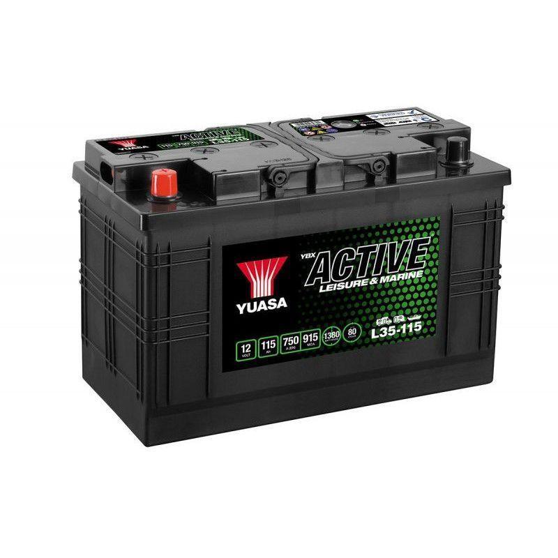 YUASA Batterie décharge lente Yuasa L35-115 Leisure 12v 115ah
