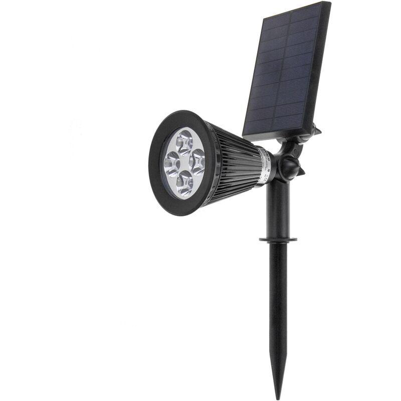 BEMATIK Projecteur solaire LED IP44 2W 200LM avec piquet de jardin 51 - Bematik