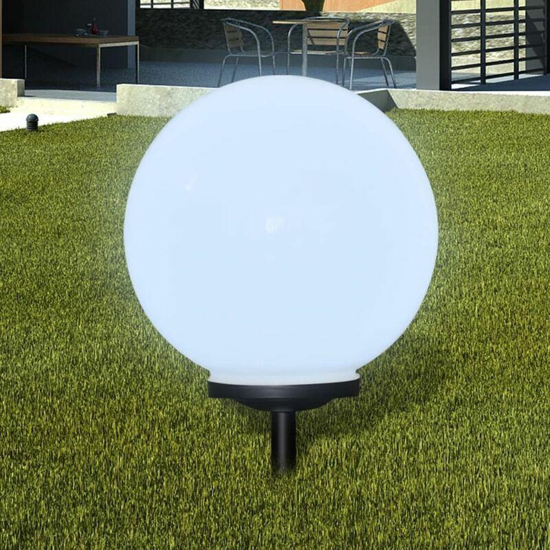 ZQYRLAR Boule solaire extérieure de jardin 40cm 1 pc avec piquet de sol