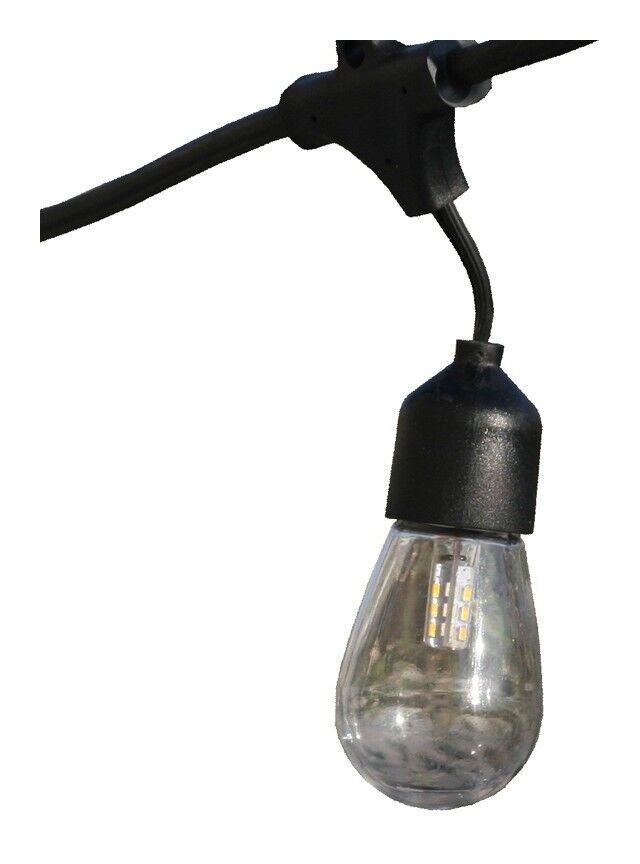 LUMISKY Guirlande lumineuse solaire 10 ampoules à filament vintage LED blanc chaud MAFY