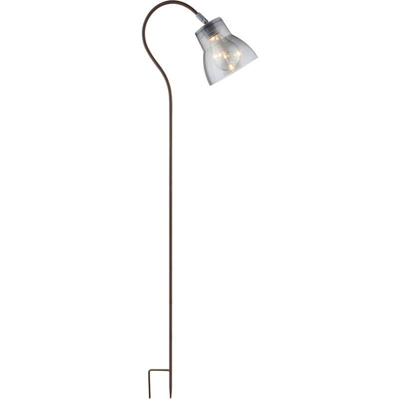 GLOBO LED solaire stand extérieur lampe Spike rouille chemin de jardin allumage verre