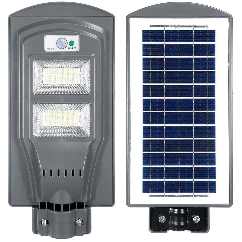 INSMA Lampadaire Solaire Lampe De Jardin Induction Capteur Solaire Telecommande 234LED