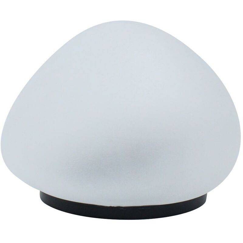 LUMI JARDIN Lampe solaire décorative galet LED blanc SOLENZARA ∅15cm