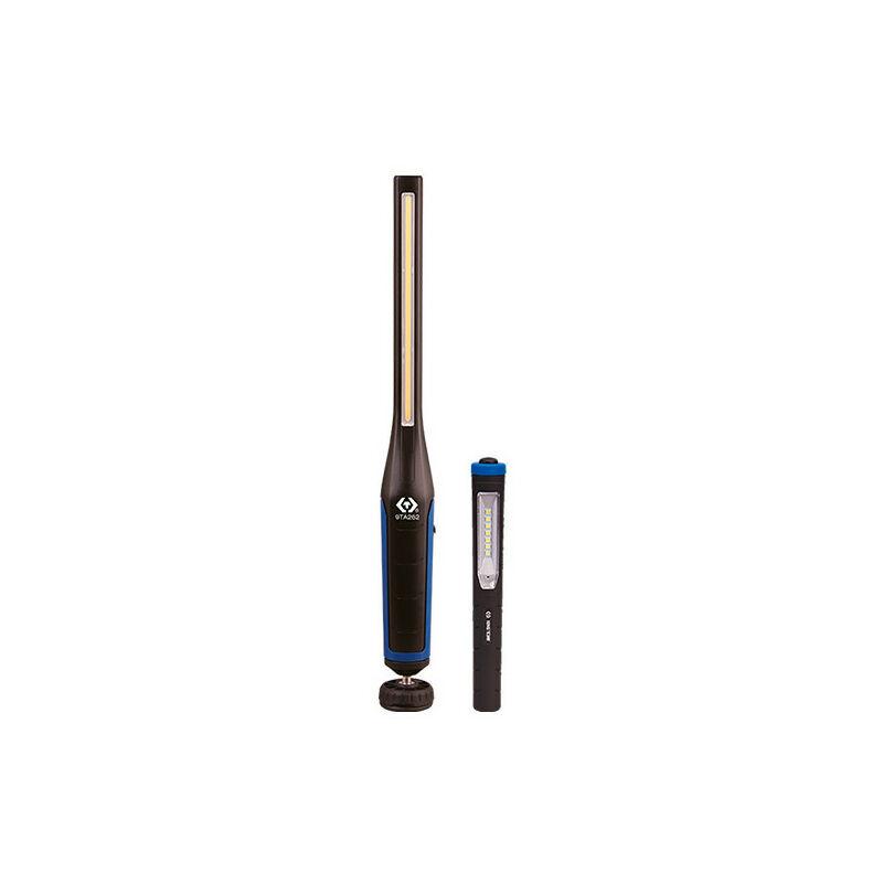 KING TONY Lampe d'inspection Slim COB 7W + SMD 3W (600 & 120 lm) et Lampe stylo SMD 3.5W