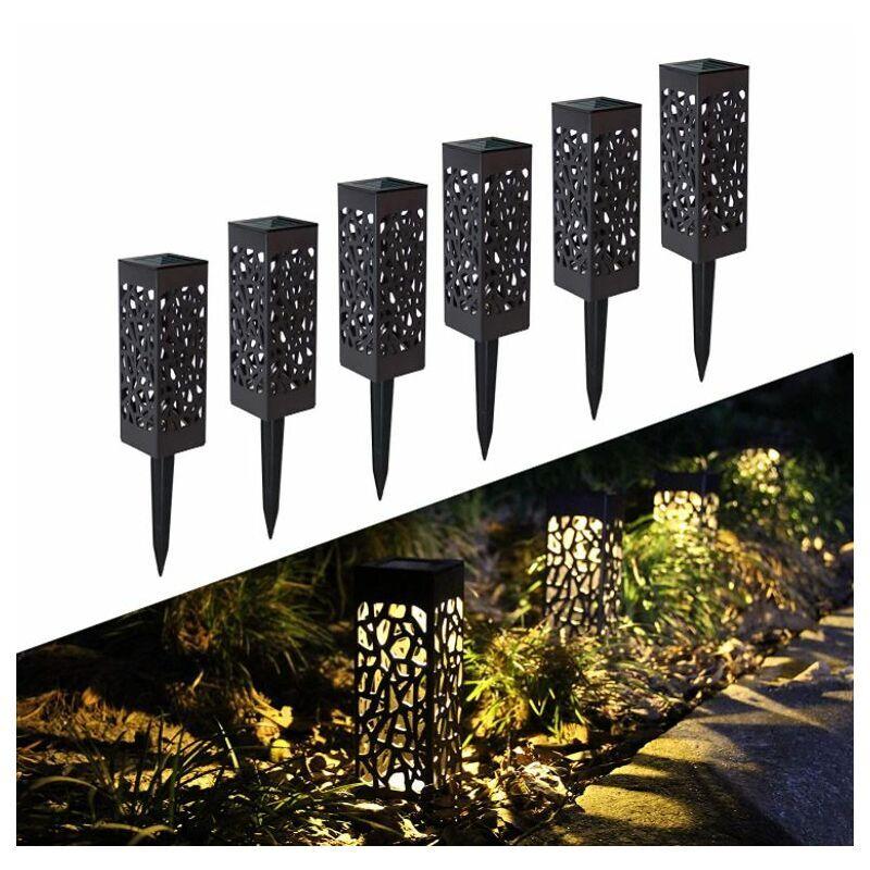 PERLE RARE Lampe Solaire Jardin, 6 Pièces Éclairage Solaire Extérieur de Jardin, Étanche