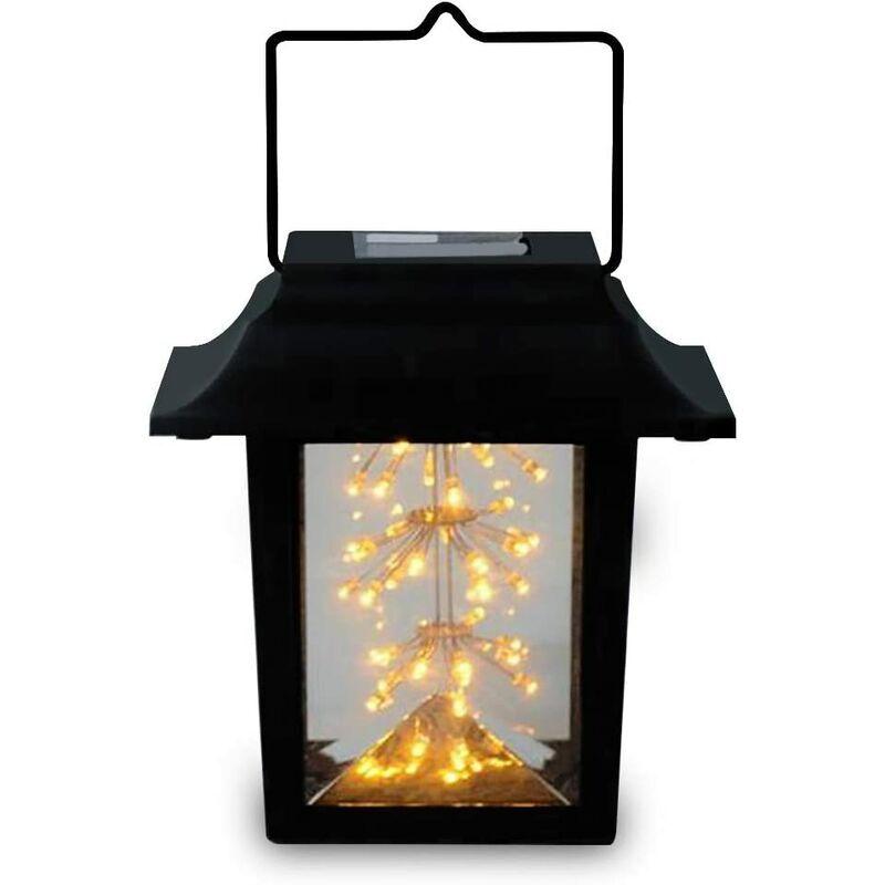 LANGRAY Lampes solaires de jardin à LED Lanterne solaire à suspendre pour jardin,