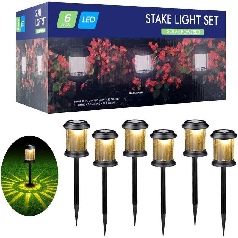 PERLE RARE Lampes Solaires Jardin 6 Pièces Éclairage Solaire Extérieur Étanche Lumière