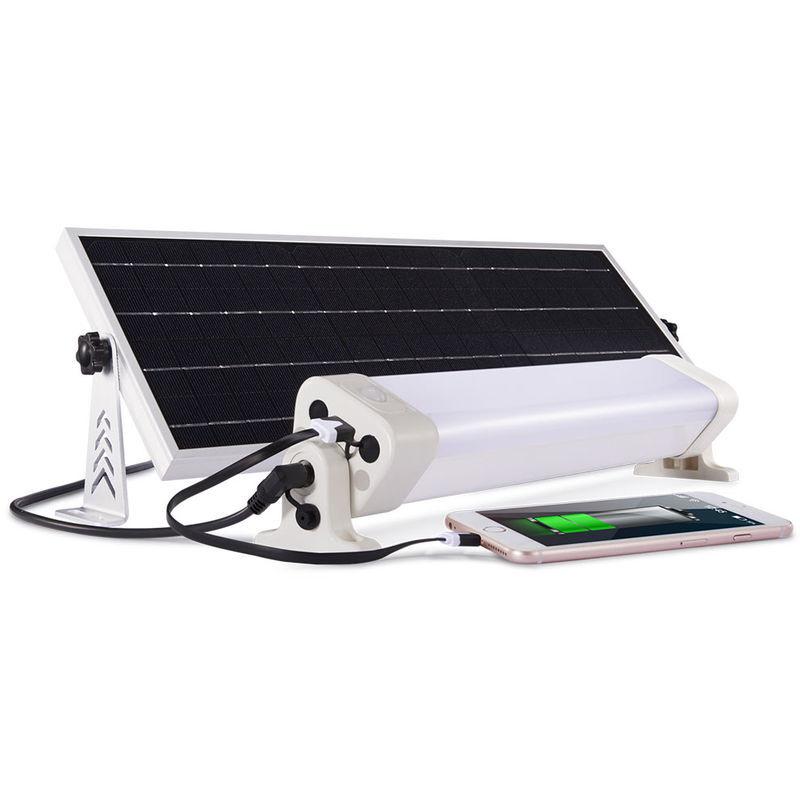JARDIDECO Néon LED panneau solaire 1300 lumens 90 leds Autonomie 8h pour éclairer 25 à 35