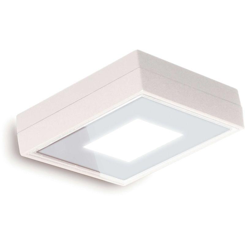CRISTHER Plafond VIENA SQ IP65 LED 4,3W 400lm 3K Blanc