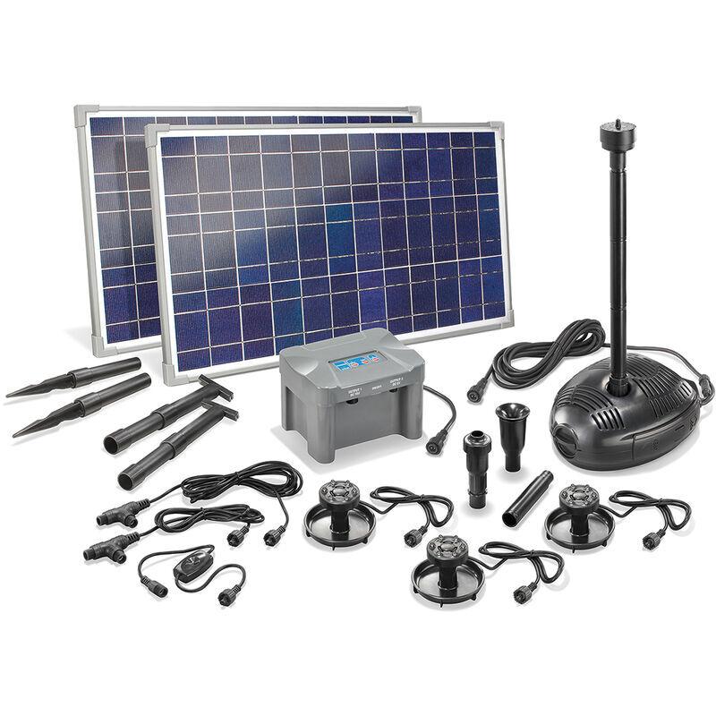 ESOTEC Pompe solaire de bassin avec batterie rechargeable 50W Pompe solaire de jardin
