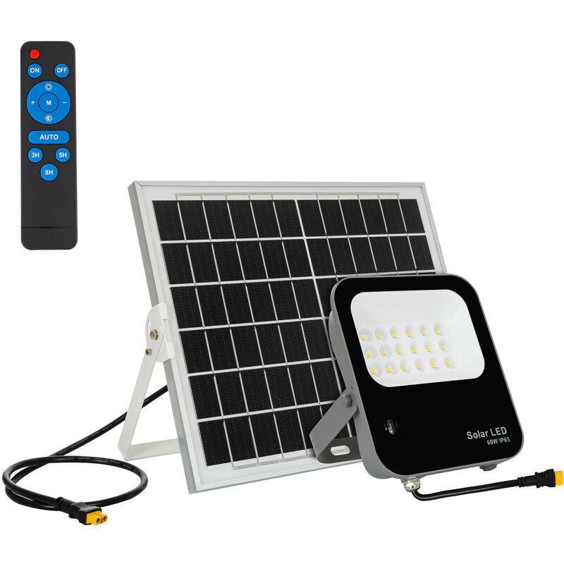 LEDKIA Projecteur LED Solaire 60W 170lm/W IP65 avec Télécommande Blanc Neutre 4500K