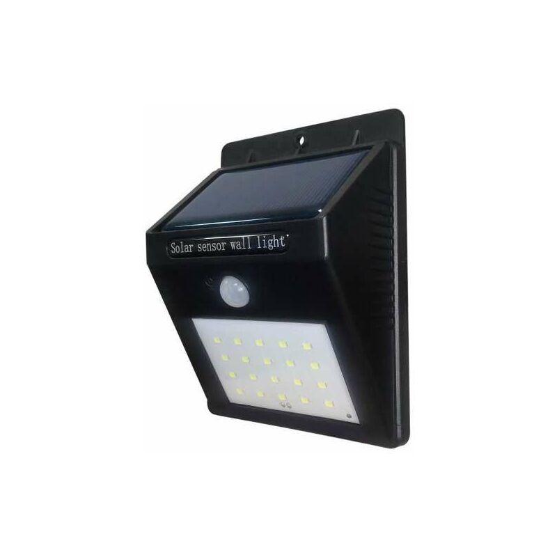 OPTONICA Projecteur LED Solaire Mural Noir 0,75W 110lm Blanc Jour 6000K