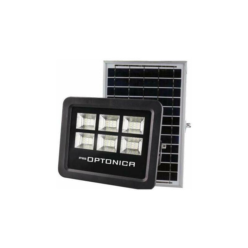 OPTONICA Projecteur LED Solaire Noir Équivalent 50W 800lm Blanc Jour 6000K