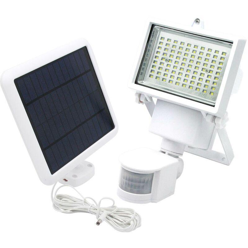 Lumi Jardin - Projecteur solaire blanc eclairage puissant panneau solaire