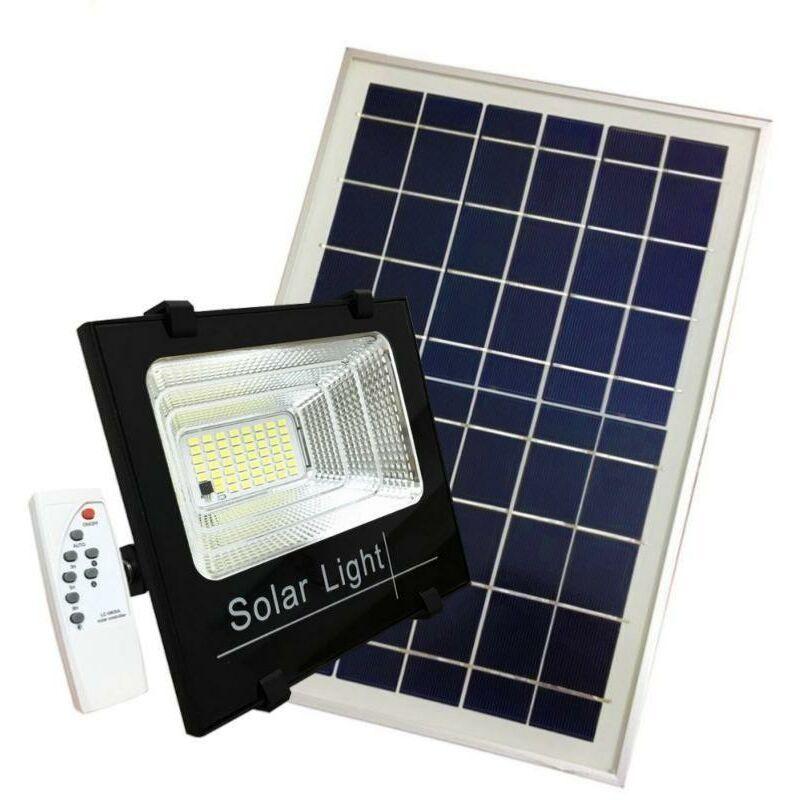 SILAMP Projecteur Solaire LED 60W Dimmable avec Détecteur (Panneau Solaire +
