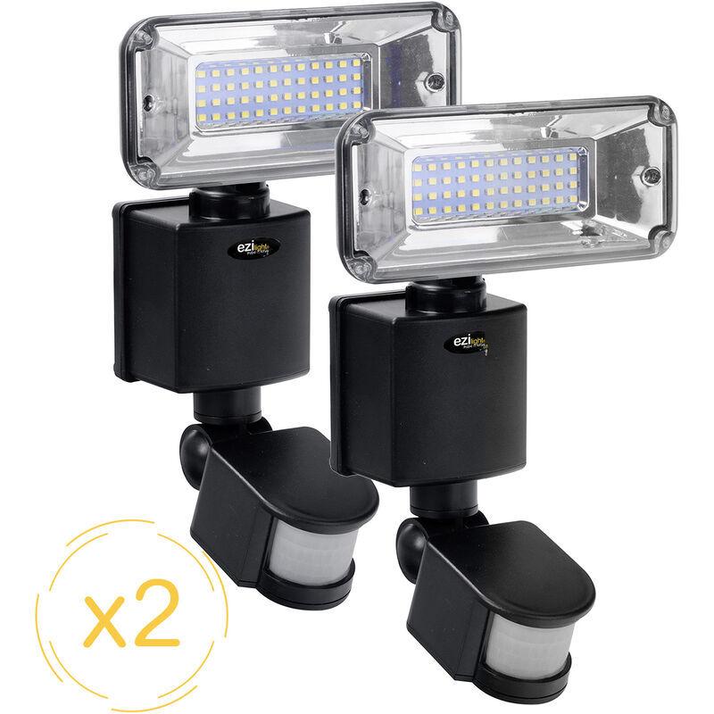 EZILIGHT Projecteur solaire LED ® Solar pro 1 - Pack de 2 lampes - Ezilight