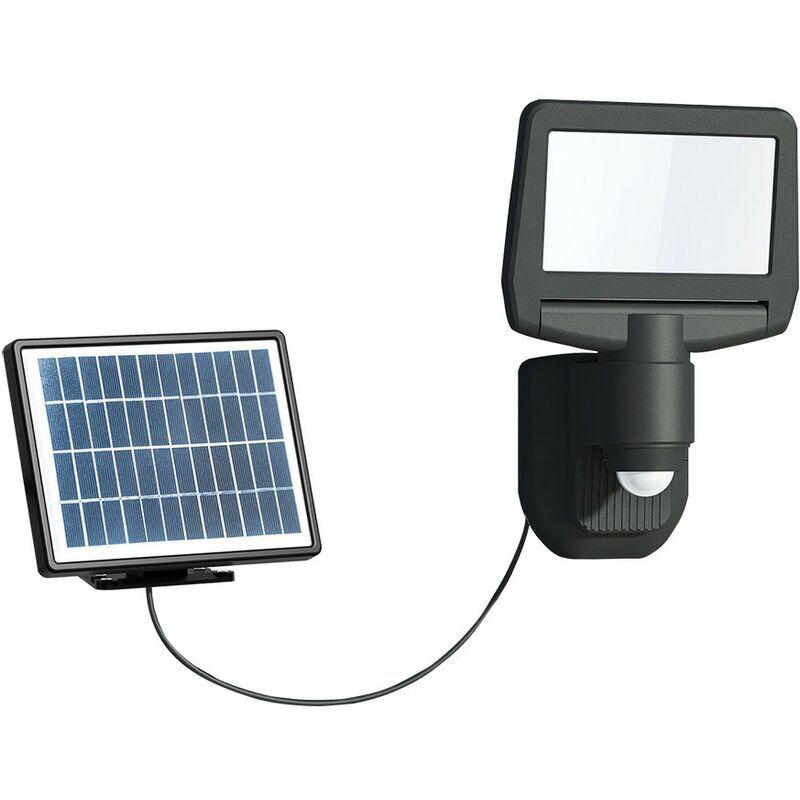 Arev - Projecteur solaire noir 15W LED 1000 lumens