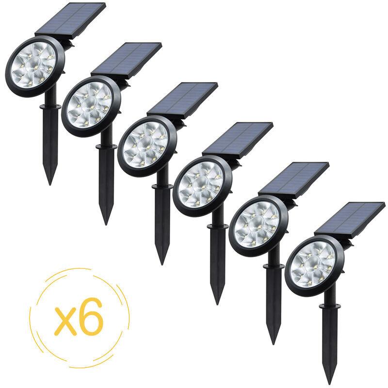 EZILIGHT Projecteurs solaires EZIlight® Solar spot - Pack de 6 lampes