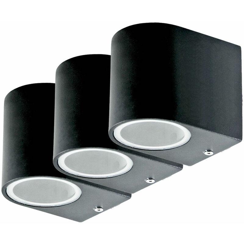 ETC-SHOP Lot de 3 LED Down Spots Façades Maison Porte Lumières Mur Spot Lampes