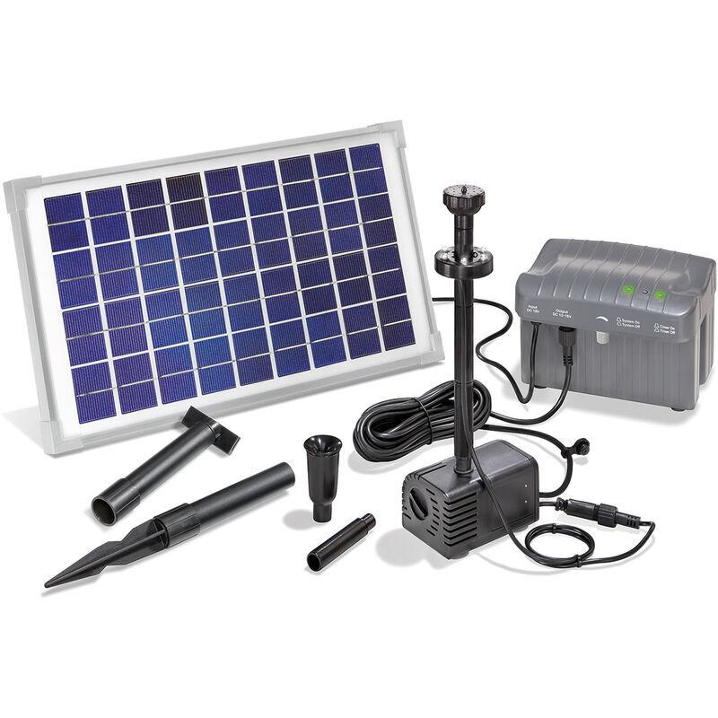 Esotec - Pompe solaire pour bassin avec batterie rechargeable 10W Pompe solaire