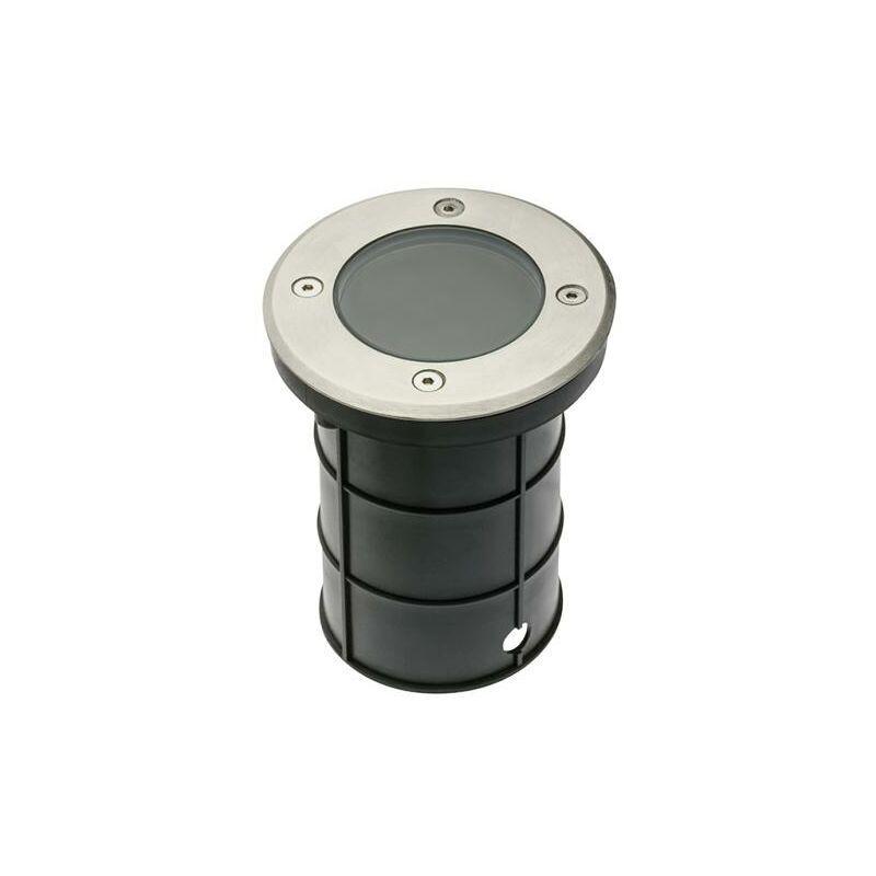 ANROLD Spot Exterieur Encastrable IP67 230V GU10 Acier Rond double presse-étoupe.