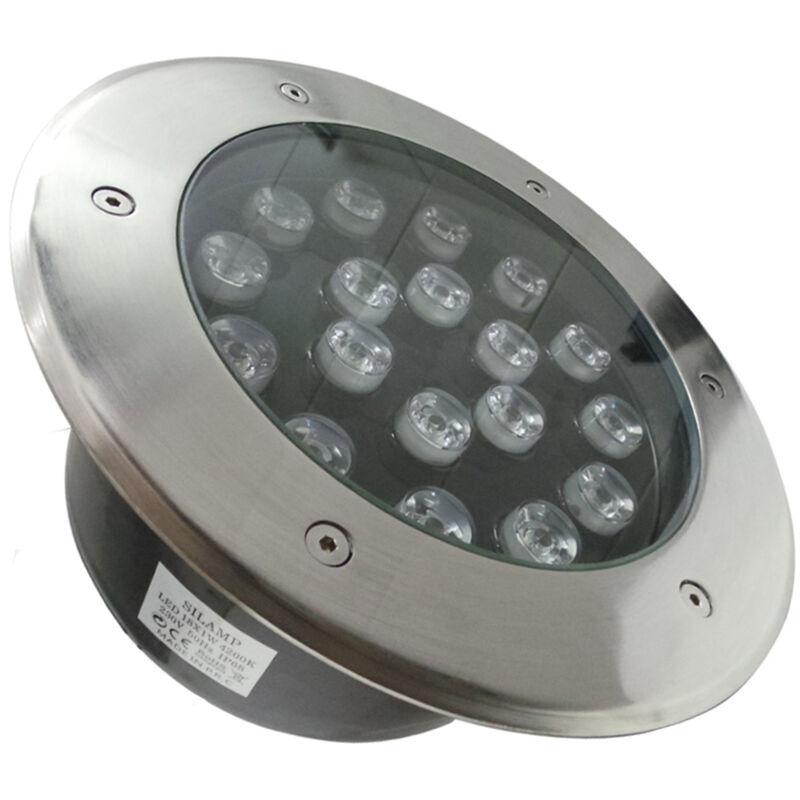 SILAMP Spot Extérieur Encastrable LED IP65 220V Sol 18W 60° - Blanc Neutre 4000K