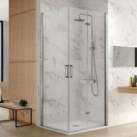 Kassandra - Paroi de douche accès en angle 1 porte pliante 95 cm + 1 porte <br /><b>849 EUR</b> ManoMano