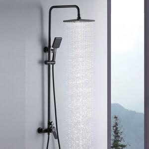 AURALUM Colonne de douche Noir Interrupteur à poignée Ensemble de douche avec 26*19cm - Publicité