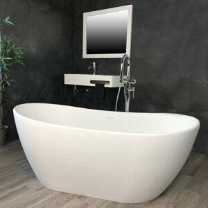Ambra - Baignoire ilot 160 cm en Solid surface - Enola - Publicité