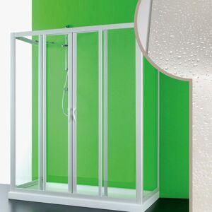 IDRALITE Cabine douche 3 côtés 90x130x90 CM en acrylique mod. Mercurio 2 avec ouverture - Publicité