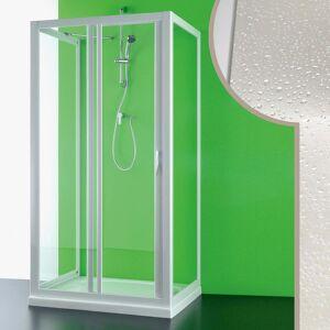 IDRALITE Cabine douche 3 côtés 80x120x80 CM en acrylique mod. Mercurio avec ouverture - Publicité