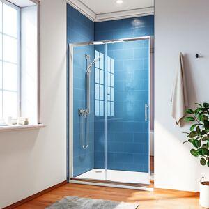 SIRHONA Porte de douche Coulissante 120x185 cm Porte de douche coulissante réglable - Publicité