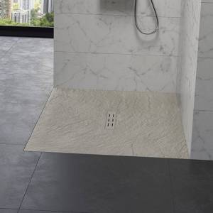 Kinedo - Receveur douche aspect pierre Kinestone, 120 x 80, sable - Sable - Publicité