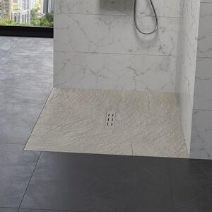 Kinedo - Receveur douche aspect pierre Kinestone, 180 x 80, sable - Sable - Publicité