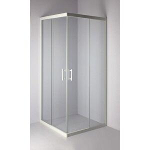 ALTERNA Paroi de douche Verseau 2, acces d'angle, porte coulissante 90 x 90 cm ALTERNA, - Publicité