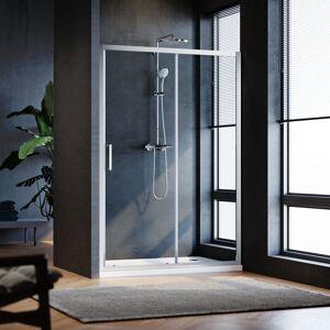 SIRHONA Porte de douche Coulissante 160x185 cm Porte de douche coulissante réglable - Publicité