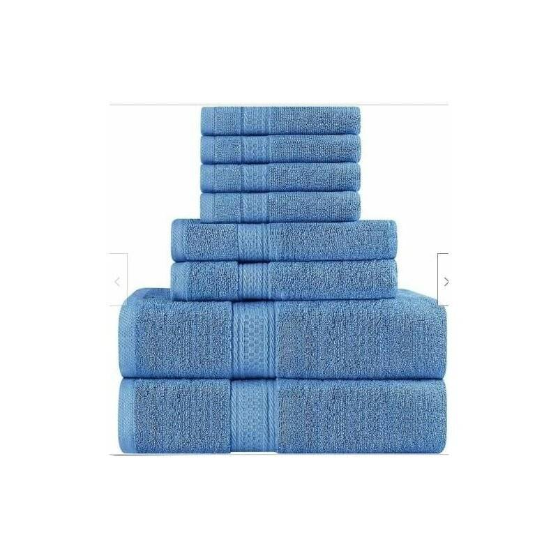 MOHOO 4pcs / set 100% serviettes en coton turc ensemble serviette de bain serviettes