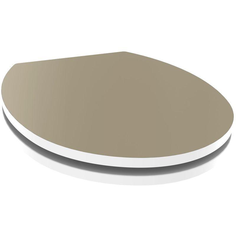 Allibert - Abattant WC design Kristal - Taupe clair - Taupe